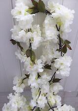 Artificial Silk Flower Garland X 2 Ivory Ideal Garden Archway Home Decor