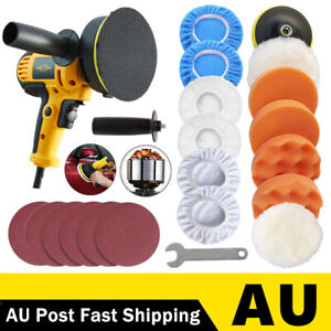 125mm Portable 600W Car Polisher Sander Buffer Polishing Machine Kit Waxer Tool