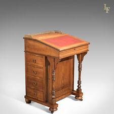 Antiguo Victoriano Nogal Davenport, Escritorio, mesa de escritura Inglés Período De Muebles