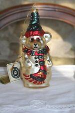 Boyds Bears Olaf Ornament Glass Christmas Snowman 10,667 Damaged