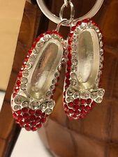 Wizard Of Oz Rhinestone Ruby Red Slippers Purse Charm/ Key Chain/ Zipper Pull