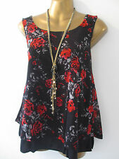 Synthetic Floral Regular Size Hips Tops & Shirts for Women