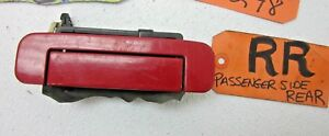 AUDI 100 A6 S4 S6 PASSENGER R RH RR RIGHT REAR OUTER DOOR HANDLE RED 4A0839206