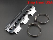 "9"" SKull Exhaust Muffler Pipe Heat Shield Guard For Harley Honda Kawasaki Suzuki"