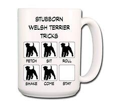 Welsh Terrier Stubborn Tricks Extra Large 15oz Coffee Mug