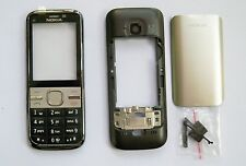 Black Housing cover Case fascias facia faceplate For Nokia C5 C5-00 full cover -