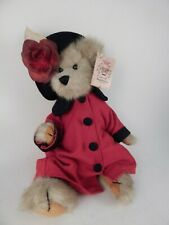 "The Bearington Collection Bear ""Hayley""Dressed In A Red Coat & A Hat W/Rose. 12"""