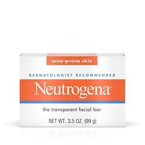 Neutrogena Facial Cleansing Bar Treatment For Acne-Prone Skin, 3.5 Oz NIB