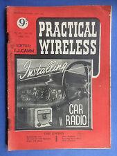 PRACTICAL WIRELESS - Magazine - April 1950 - Installing Car Radio