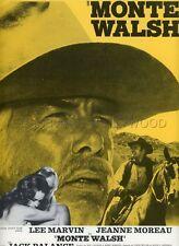 JACK PALANCE LEE MARVIN  JEANNE MOREAU MONTE WALSH 1970 RARE SYNOPSIS