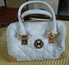 Metrocity Genuine Leather Quilted White Small Handbag