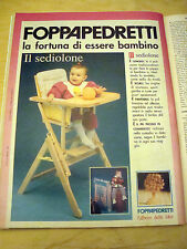 PUBBLICITA' ADVERTISING WERBUNG 1991 IL SEDIOLONE FOPPAPEDRETTI (G5)