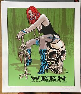Ween: St. Petersburg, 2008 Poster, Signed, Numbered Justin Hampton (Run of 100)