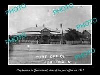 OLD LARGE HISTORIC PHOTO OF HUGHENDEN QLD, VIEW OF THE POST OFFICE c1912