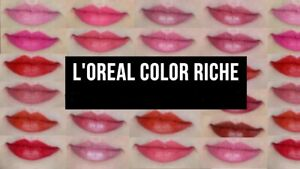 L'Oreal Paris Colour Riche Lipstick Color Choose Many Different Shades New