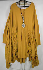 LAGENLOOK DESIGNER 'SHE' PARACHUTE HITCHED DRESS SIZE 44-60  AMBER