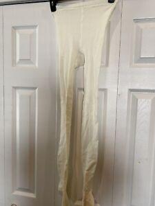 Stylish Ivory White Hue Small/ Medium Stockings