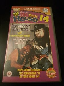 WWF IN YOUR HOUSE 14 REVENGE OF THE TAKER - SILVER VISION -  VHS - WCW/ECW/WWE