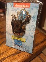 NEW Universal Studios Spongebob Squarepants Glitter Heart Krabby Patty 3 Pin Set