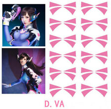 1page Overwatch DVA Face Temporary Tattoo Cosplay Prop (6 pairs)