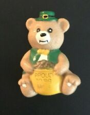 Vintage St Patrick's Day Pin Proud to be Irish Bear With A Pot of Gold