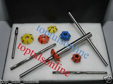 Valve Seat Cutter Kit Carbide Tipped 14 Pcs Optimum for Hard Seats with HSS REAM