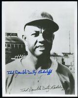 Ted Double Duty Radcliffe Autographed B&W 8x10 Photo MLI COA