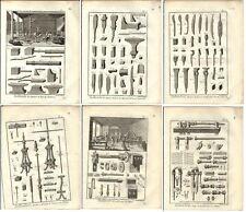 Stampa antica FABBRO INCUDINI MARTELLI 6 TAV. Encyclopedie 1785 Antique print