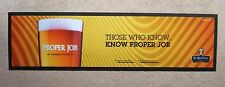 Proper Job Beer Rubber Backed Bar Runner St Austell Brewery Home Pub Man Cave