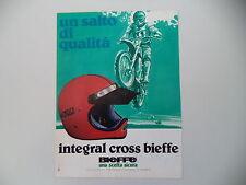advertising Pubblicità 1979 CASCO BIEFFE INTEGRAL CROSS