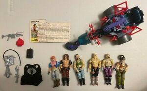 Vintage GiJoe Cobra Dreadnok Figures, Vehicle, Accessories lot.