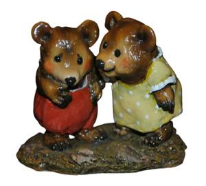 Wee Forest Folk Don't Be Shy Bear BB-1 1995 Annette Petersen Figurine