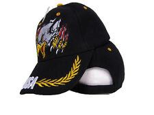 Black Screaming Eagle USA US America American Baseball Cap Hat
