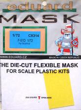 Eduard 1/72 CX314 Canopy Masque pour les ITALERI F-51D Mustang Kit