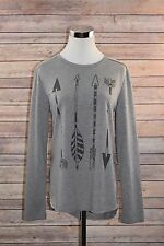 Women's LOL Vintage T-Shirt Long Sleeve Gray Size Medium