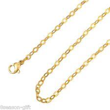 1PC Stainless Steel Flatten Rhombus Cross Chains Necklace 50cmx3mm