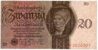 20 Empire Marque Billets 11.10.1924 Allemagne Pression Négative Lettre B