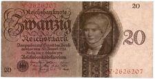 20 reichsmark riche banknote 11.10.1924 Allemagne sous pression, point B,