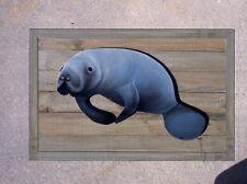 Manatee Barnwood Slat Wall Art Nautical home decor beach art fishing marine life