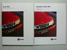 Prospekt Saab 900 / Coupe / Cabriolet  Modelle 1996, 1995, 66 Seiten +Preisliste