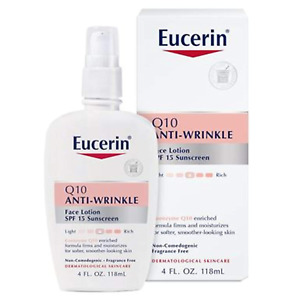 Eucerin Q10 Anti-Wrinkle Face Lotion with SPF 15 - Fragrance-Free, Moisturizes -