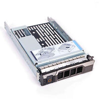 "3.5"" SAS SATA Hard Drive Tray Caddy w/ 2.5"" Adapter For Dell PowerEdge R710 New"