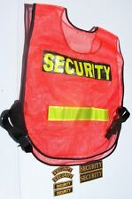 Security uniform set, includes high visiblity vest for security guards