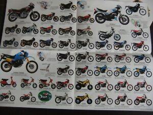 Prospectus Catalogue Brochure Moto Gamme YAMAHA 1983 : XT500, RD 350...