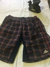 "ADIDAS GOLF CLIMALITE PERFORMANCE SHORT 12"" Ins Stretch Navy Red Plaid 36 shorts"