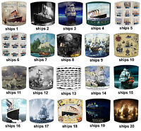 Titanic Lampshades Ideal To Match Vintage Ships Titanic Bedding Sets & Duvets.