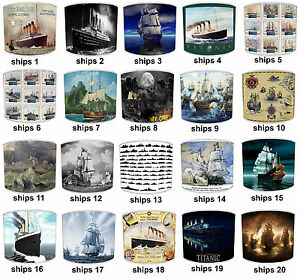 Vintage Ships Lampshades Ideal To Match Titanic Vintage Ships Quilts Bedspreads