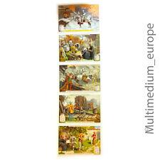 Liebig bilder Sammelbilder 5 Stk der Serie Kriegsführung im Mittelalter