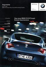 BMW Z4 M COUPE Argumente Vorteile Technik Ausstattungen Prospekt Brochure /38