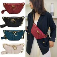 Women PU Leather Fanny Chest Bag Fashion Waist Purse Shoulder Cross-body Satchel